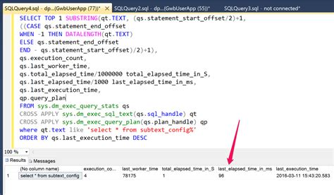 measure real world sql query performance  aspnet