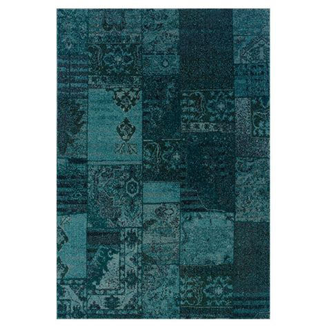 Teal And Gray Area Rug by 10x13 9 10 Quot X 12 10 Quot Contemporary Modern Antiqued Teal