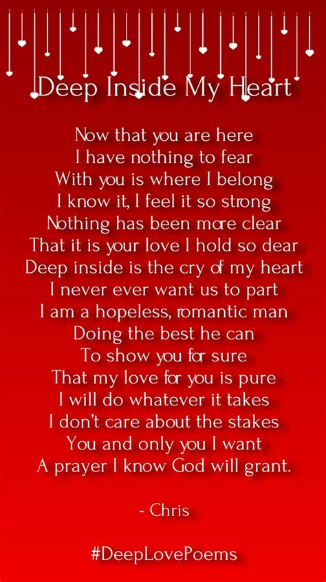 Deep Love Poems for Him From the Heart