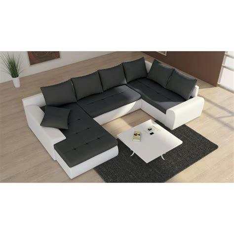 canapé d angle simili cuir convertible canapé d 39 angle convertible en u 7 places joyu tissu et skaï