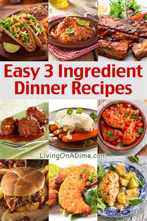 easy 3 ingredient dinner recipes delicious meals fast