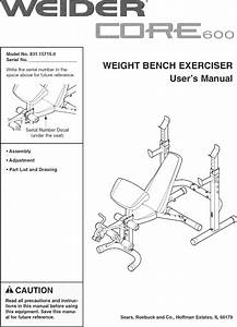 Weider Core 600 Weight Bench Manual