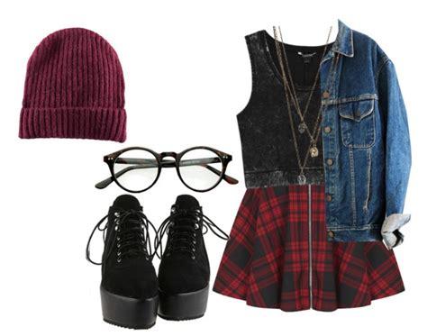 12524d55638 25 Pretty Plaid Wintertime Outfit Ideas Polyvore