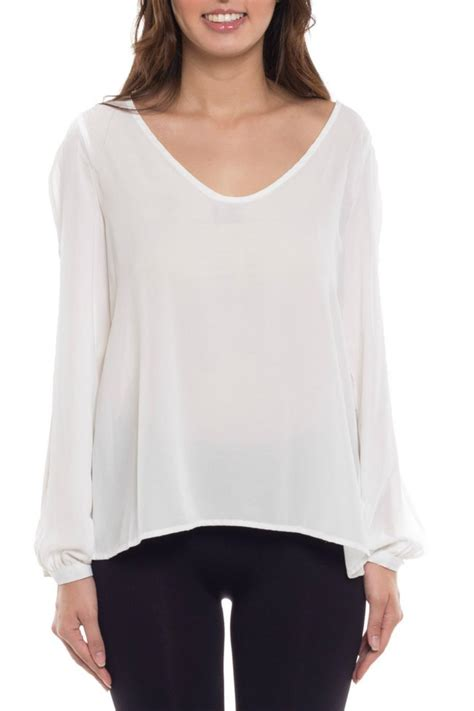 open blouses coveted clothing open sleeve blouse from california by