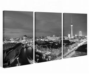 Berlin Schwarz Weiß Bilder : leinwand 3 tlg berlin schwarz wei skyline stadt bilder wandbild city 9a502 holz fertig gerahmt ~ Bigdaddyawards.com Haus und Dekorationen