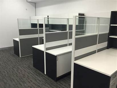Partition Office Screen Aluminum Frame Grey Pattern