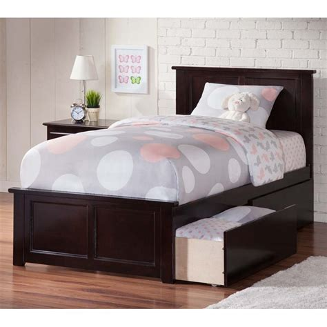 Atlantic Furniture Madison Twin Xl Storage Platform Bed In