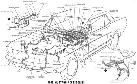 1967 Ford Mustang Wire Harnes Diagram by Ford Mustang