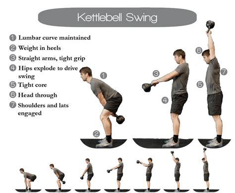 kettlebell swing technique workout description kettlebells training perform