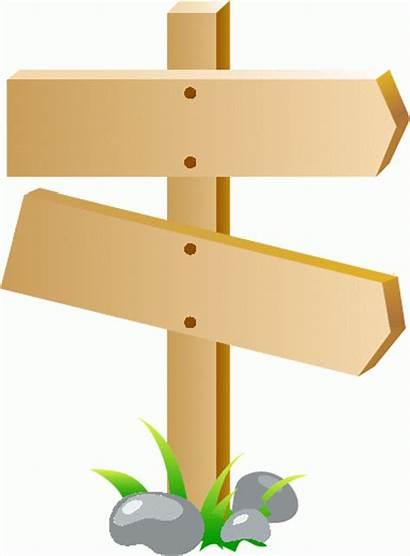 Sign Signposts Clipart Signpost Clip Change Roadblocks