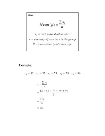 How to Calculate Mean, Standard Deviation, and Standard