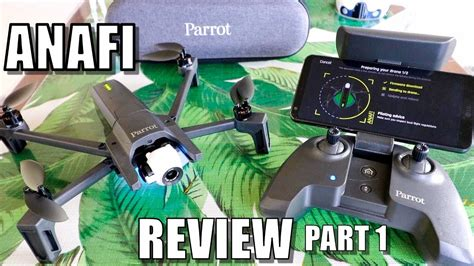 parrot anafi drone review part   depth unboxing