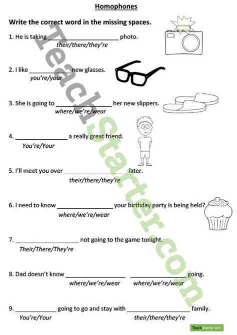 homophones worksheet teaching resources teach starter