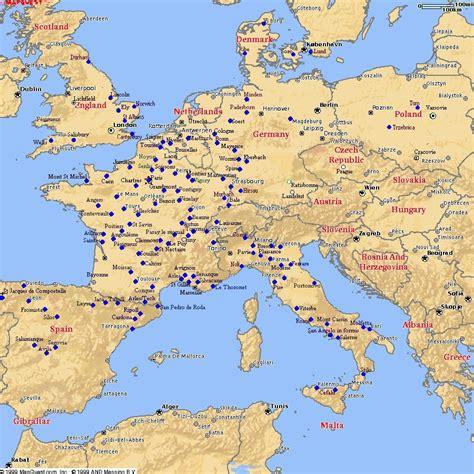 Ville De Carte by Carte D Europe Avec Villes My
