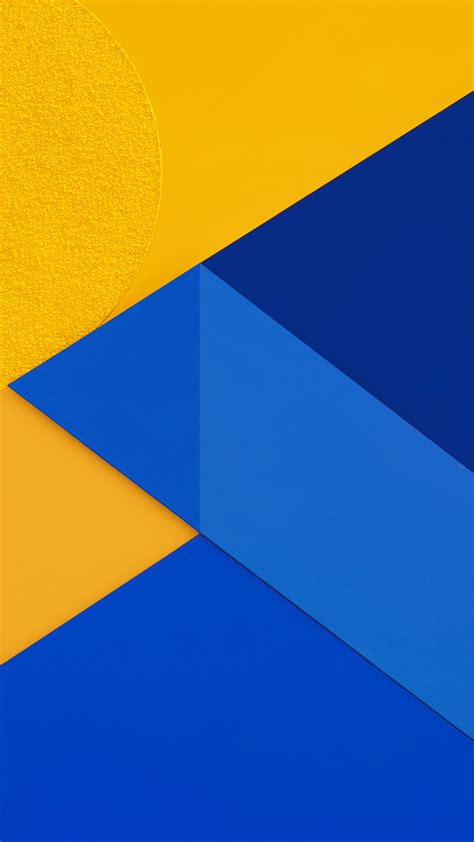 vl android marshmallow  blue yellow pattern papersco