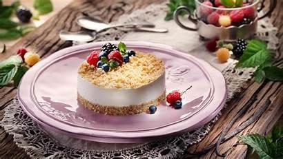 Cheesecake Cheese Mascarpone Souffle Philadelphia Berries Mint