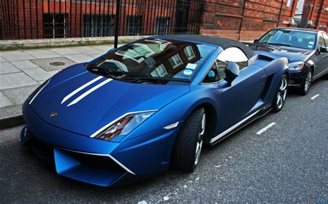 Video Games Blue Cars Parks Lamborghini Gallardo
