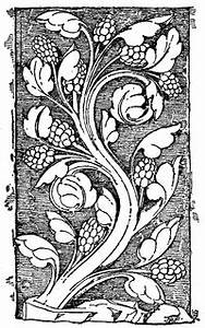 Small Sales Early Gothic Ornament Vine Clipart Etc