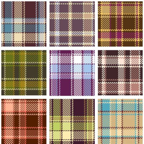 plaid pattern eps  vector