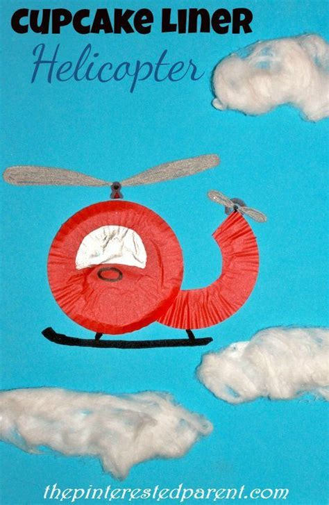 cupcake liner helicopter the pinterested parent 629 | Cupcake Liner Helicopter Craft