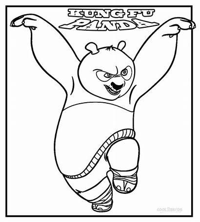 Panda Fu Kung Coloring Pages Printable Cool2bkids