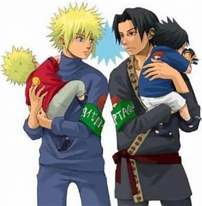 Fathers Minato and Fugaku | Uchiha Family | Pinterest | Father