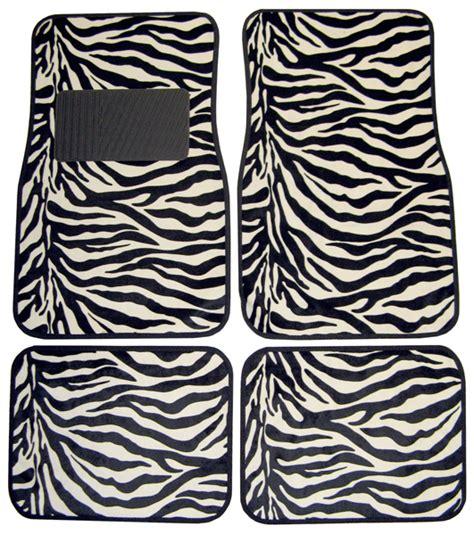 floor mats zebra zebra print 4 floor mat set pla001441r01