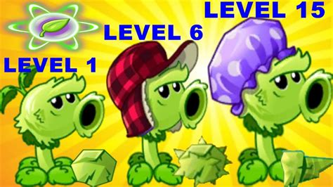 primal peashooter pvz2 level 1 6 15 max level in plants vs zombies 2 gameplay 2017
