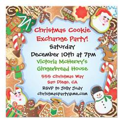 christmas cookie exchange party invitation 5 25 quot square invitation card zazzle