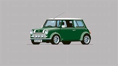 Mini Cooper Iconic Automobile Minimalist Wallpapers Racing