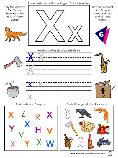 letter x sound worksheets 6 best images of printable letter x activities free