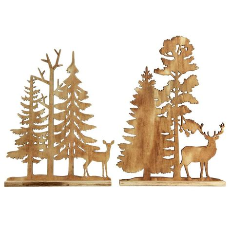 details  wooden christmas ornaments rustic wood cut