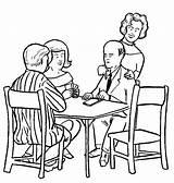 Helping Coloring Players Bridge Score Husband Keep Wilson Mrs sketch template