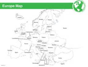 Europe Map Worksheet Labeled