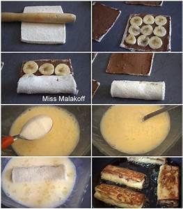 Pain Perdu Au Nutella : pain perdu roul a la banane et au nutella cuisine ~ Voncanada.com Idées de Décoration
