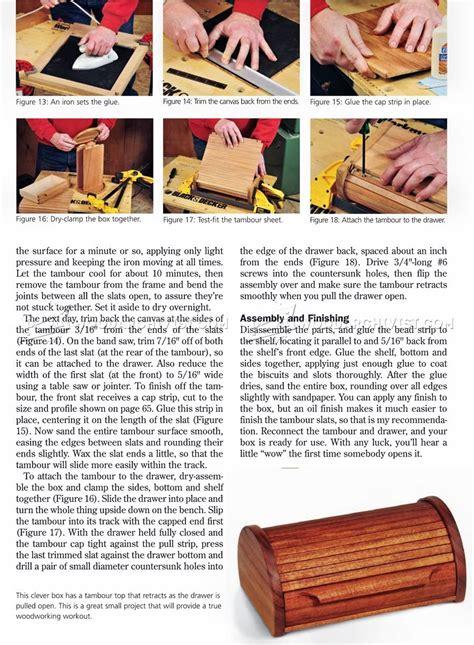 tambour topped box plans woodarchivist