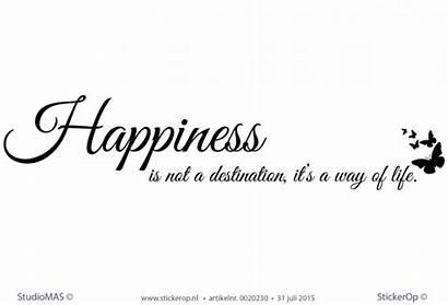 Happiness Tekst Muursticker