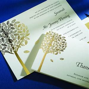 black letterpress with gold foil invite from the letter With foil print wedding invitations uk