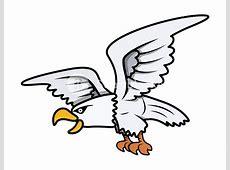 Eagle Cartoon Vector Illustration RoyaltyFree Stock Image