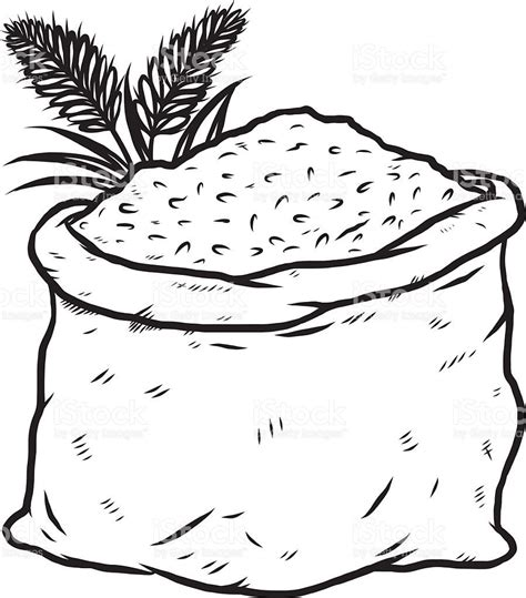 rice clipart black  white food color sheets