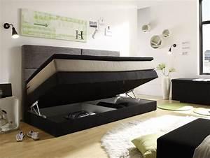 Jugendbett 90x200 Mit Bettkasten : patron boxspringbett mit bettkasten 90x200 cm schwarz braun beige ~ Whattoseeinmadrid.com Haus und Dekorationen