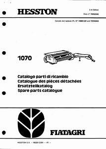 Hesston 1070 Service Parts Catalog Pdf Tractor Manual
