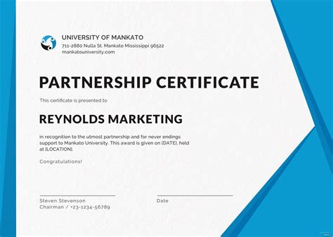 business certificate design template  psd ms word