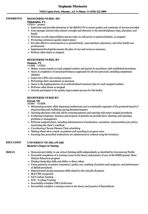 Resume Registered by Registered Rn Resume Sles Velvet