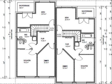 Kinderzimmer Grundriss Beispiele by Doppelhaus Bauen Mit 252 Ber 150 Qm Grundriss