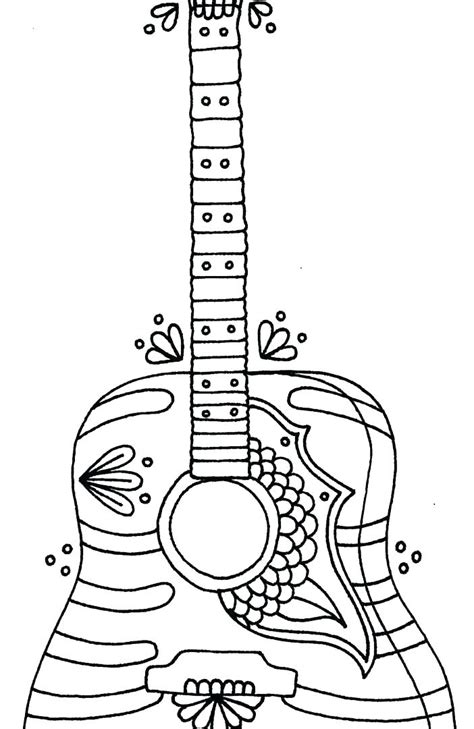 electric guitar coloring page  getcoloringscom  printable colorings pages  print
