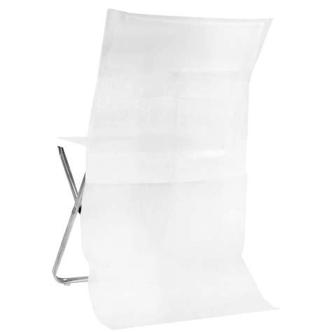 housse de chaise dossier rond housse dossier de chaise intissé blanc les 10 achat