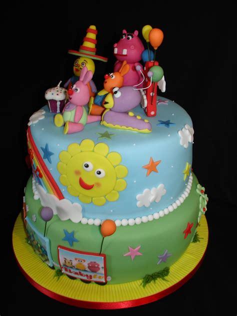 1St Bday Baby Tv Theme Fondant Cake - CakeCentral.com