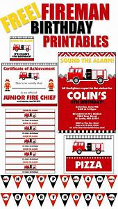 Firetruck Themed Birthday Party with FREE Printables - How