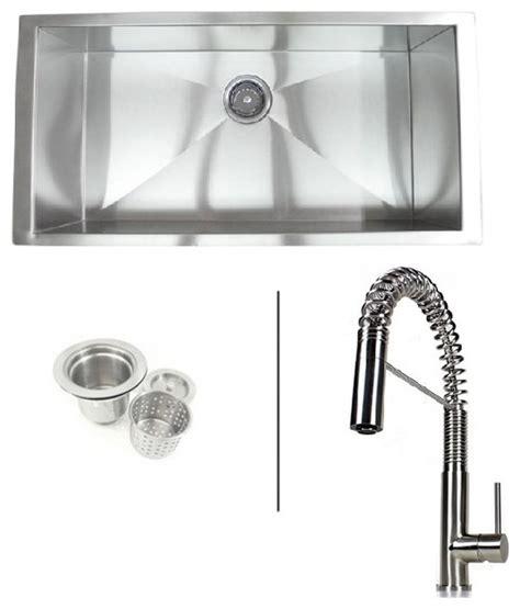 36 inch zero radius undermount single bowl kitchen sink